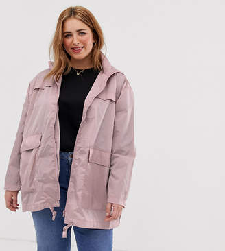 Asos DESIGN Curve rain jacket