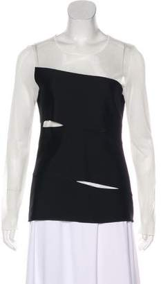 Christian Dior Cutout Long Sleeve Top