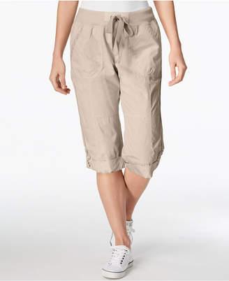 Calvin Klein Poplin Convertible Capri Cargo Pants