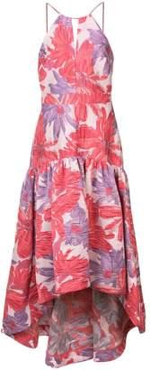 Badgley Mischka long floral flared dress