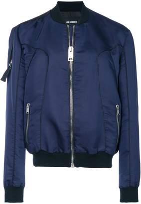 Les Hommes zipped pocket bomber jacket
