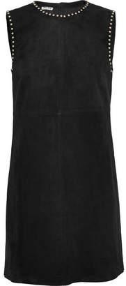 Miu Miu - Studded Suede Mini Dress - Black
