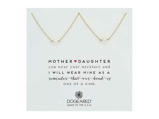 Dogeared Mother Daughter, 2 Small Pearl Necklace