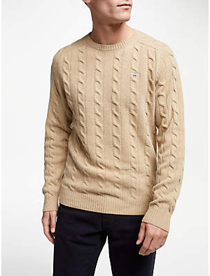 Gant Lambswool Cable Crew Jumper