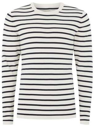 Topman Mens SELECTED HOMME Cream And Black Stripe Sweater