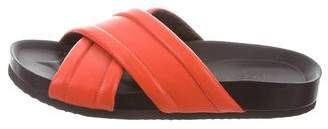 Vince Leather Slide Sandals