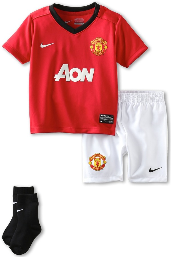 Nike MANU Home Kit (Infant) (Diablo Red/Black/Football White) - Apparel