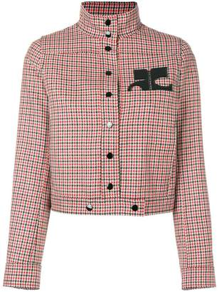 Courreges houndstooth cropped jacket
