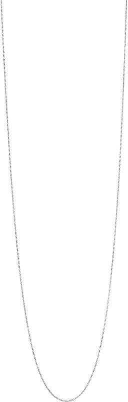 Essentials sterling silver cable chain 80cm