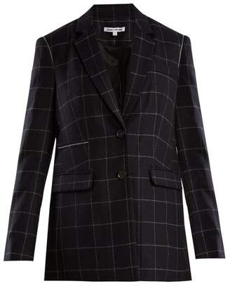 Elizabeth and James Caprice windowpane-checked wool-blend blazer