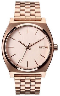 Nixon Analog Time Teller Goldtone Bracelet Watch