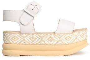 Paloma Barceló Palomitas By Talia Leather And Woven Platform Sandals