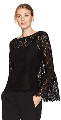 Karen Kane Women's Bell Sleeve Lace Top