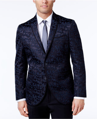 Kenneth Cole Reaction Men's Slim-Fit Blue and Camouflage Dinner Jacket $295 thestylecure.com