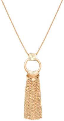 Steve Madden Circle Tassel Pendant Necklace - Women's