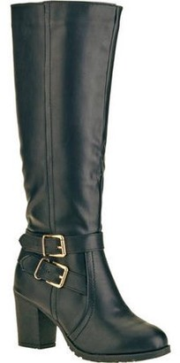 FOREVER YOUNG Forever Young Women's Double Buckle Tall Boot