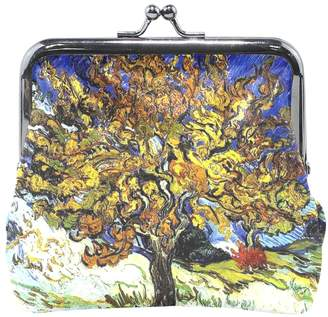 Mulberry Vipsk Van Gogh Tree PU Leather Wallet Card Holder Coin Purse Clutch Handbag