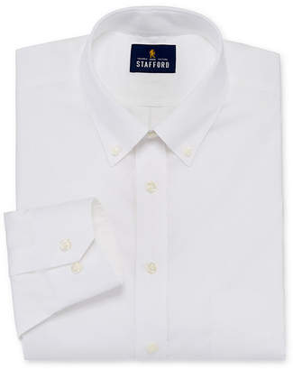 STAFFORD Stafford Executive Non-Iron Cotton Pinpoint Oxford Mens Button Down Collar Long Sleeve Stretch Dress Shirt