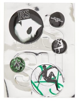Raf Simons Graphic Print Badge Set - Womens - Green