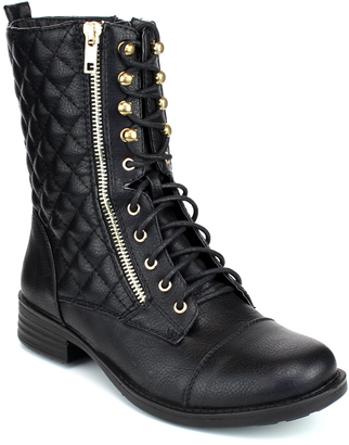 Black Quilted Sammy Boot $39 thestylecure.com