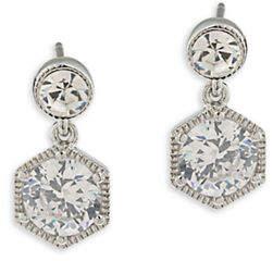 Lauren Ralph Lauren Headlines Double Drop Pierced Earrings