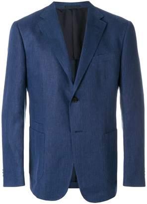 Z Zegna straight fit suit jacket