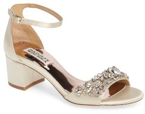 Women's Badgley Mischka Bellisima Crystal Embellished Sandal $255 thestylecure.com