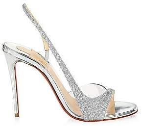 Christian Louboutin Women's Optisling Glitter Slingback Sandals