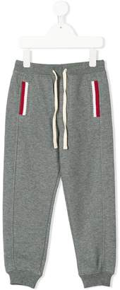 Sun 68 Kids knit rib details trousers