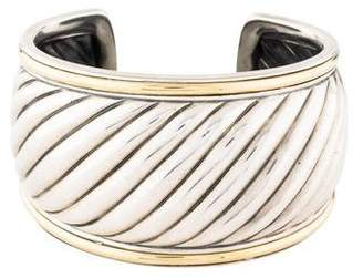 David Yurman Two-Tone Sculpted Cable Cuff
