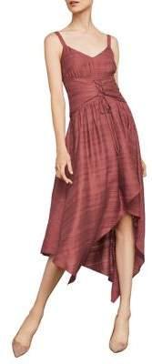 BCBGMAXAZRIA Sleeveless Lace-Up Asymmetrical Dress