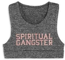 Spiritual Gangster Girls' Gradient Logo Sports Bra - Big Kid