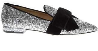 Emanuela Caruso Black/silver Glittered Mocassins