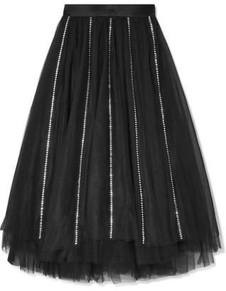 I.D. Sarrieri Swarovski Crystal-embellished Tulle Skirt - Black