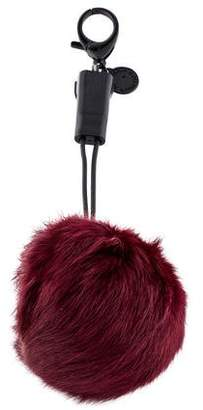 Rebecca Minkoff Power Puff Fur Keychain iPhone Charger