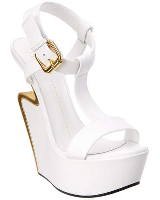 Giuseppe Zanotti Signature Leather Wedge