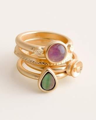 Chico's Chicos Gold-Tone Multi-Colored Ring