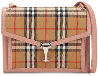 Burberry Small Macken Checked Leather Bag