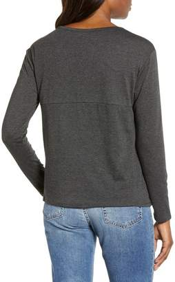 Caslon Long Sleeve Side Tie Tee