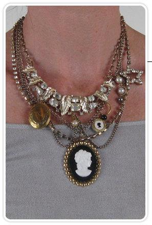 Dinah Cameo Star Necklace