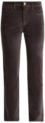 Frame Le Velveteen Cotton Blend Velvet Jeans - Womens - Grey