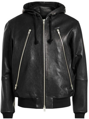 Maison Margiela Leather Jacket with Hood