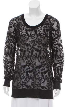 See by Chloe Patterned Long Sleeve Sweater