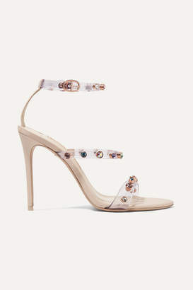 Sophia Webster Rosalind Crystal-embellished Pvc And Leather Sandals - Neutral