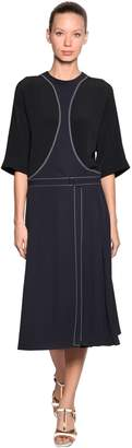Marni Crepe & Enver Satin Dress