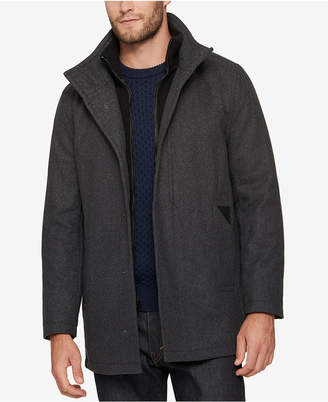 Andrew Marc Men Car Coat with Knit Inset