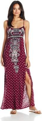 Angie Women's Front Slit Maxi Dress
