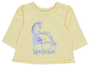 George Yellow Daddy's Little Sunshine Top
