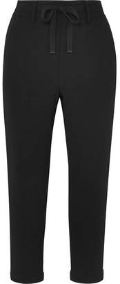 Vince Cropped Crepe Tapered Pants - Black