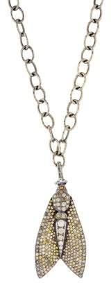 Loree Rodkin 18K Diamond Moth Pendant Necklace